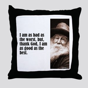 "Whitman ""As Bad As"" Throw Pillow"