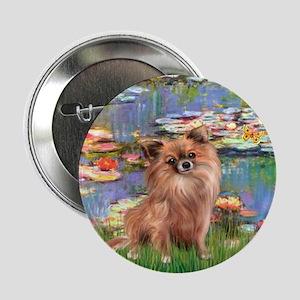 "Lilies / Chihuahua (lh) 2.25"" Button"