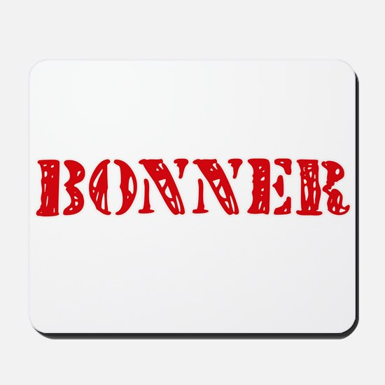 Bonner Retro Stencil Design Mousepad