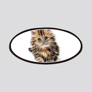 Abstract Neon Lighting Outlined Kitten Patch