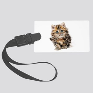 Abstract Neon Lighting Outlined Large Luggage Tag