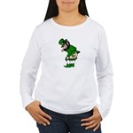 Mooning Leprechaun Women's Long Sleeve T-Shirt