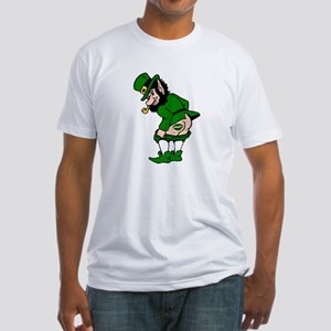Mooning Leprechaun Fitted T-Shirt
