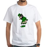 Mooning Leprechaun White T-Shirt