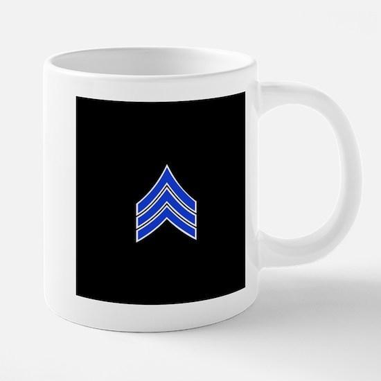 Police Sergeant (Blue) Travel Mugs