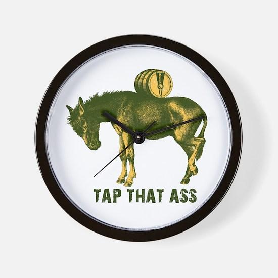 Tap That Ass Donkey Beer Keg Wall Clock