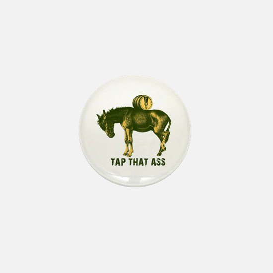 Tap That Ass Donkey Beer Keg Mini Button