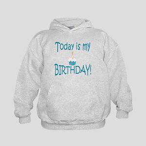 Today Is My Birthday (blue) Kids Hoodie
