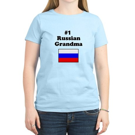 #1 Russian Grandma Women's Light T-Shirt