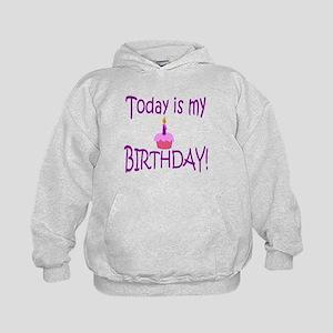 Today Is My Birthday (purple) Kids Hoodie