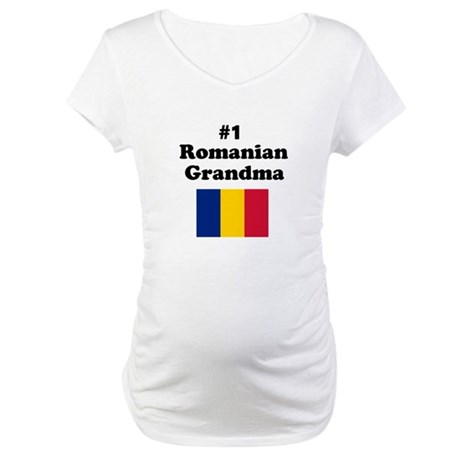 #1 Romanian Grandma Maternity T-Shirt