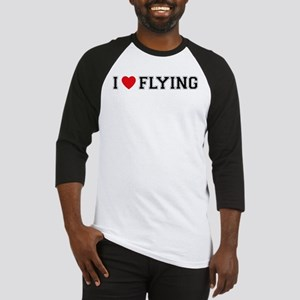 I Love Flying Baseball Jersey