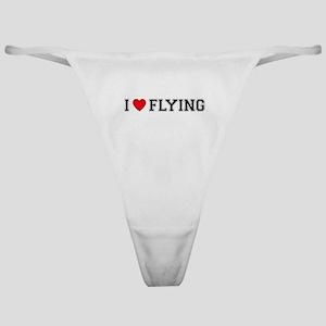 I Love Flying Classic Thong