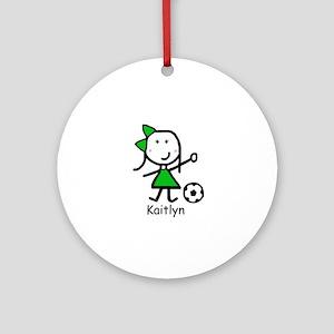Soccer - Kaitlyn Ornament (Round)