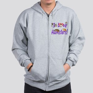 I love hamsters 01 black Sweatshirt