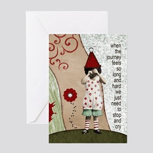 Stop And Cry Greeting Card