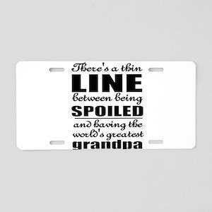 Grandpa Aluminum License Plate