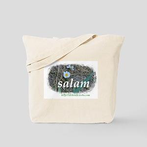 """Akhirah """"Salam"""" Flowers Tote Bag"""