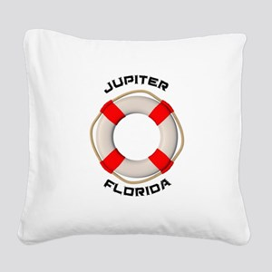 Florida - Jupiter Square Canvas Pillow