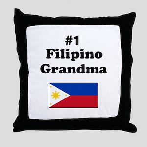 #1 Filipino Grandma Throw Pillow