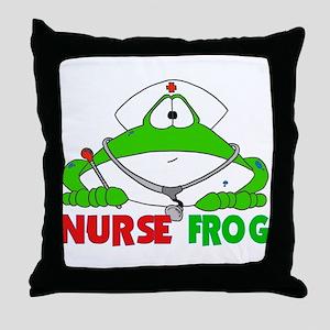 NURSE FROG Throw Pillow