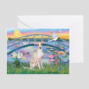 Lilies /Italian Greyhound Greeting Card