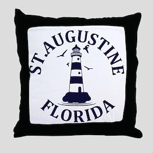 Summer st. augustine- florida Throw Pillow