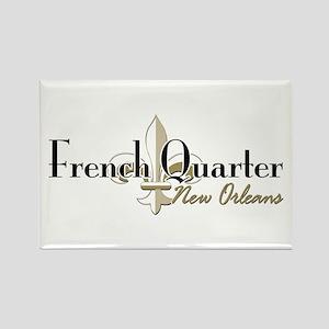 French Quarter NO Rectangle Magnet