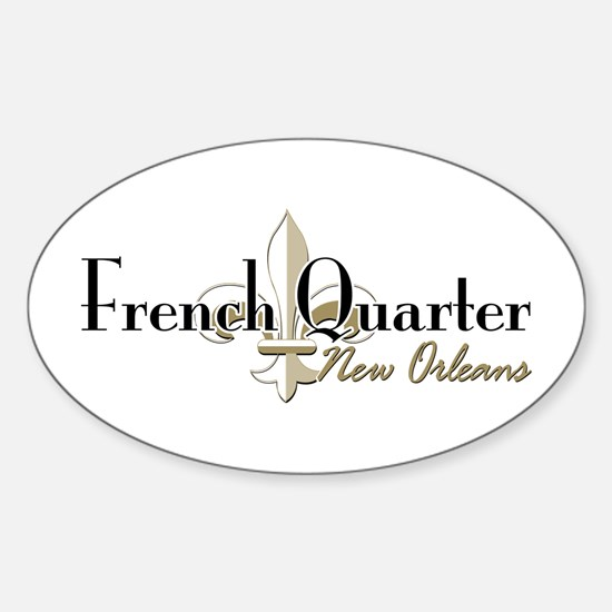 French Quarter New Orleans Sticker (Oval)