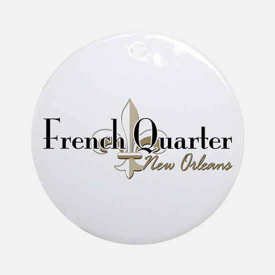 French Quarter New Orleans Ornament (Round)