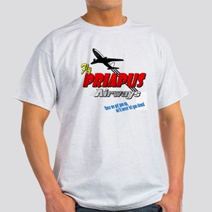 Priapus Airways Ash Grey T-Shirt