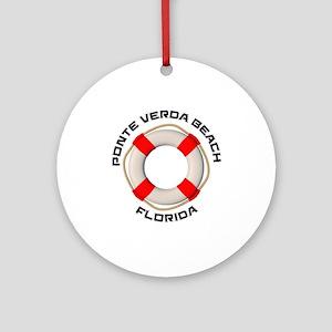 Florida - Ponte Verda Beach Round Ornament