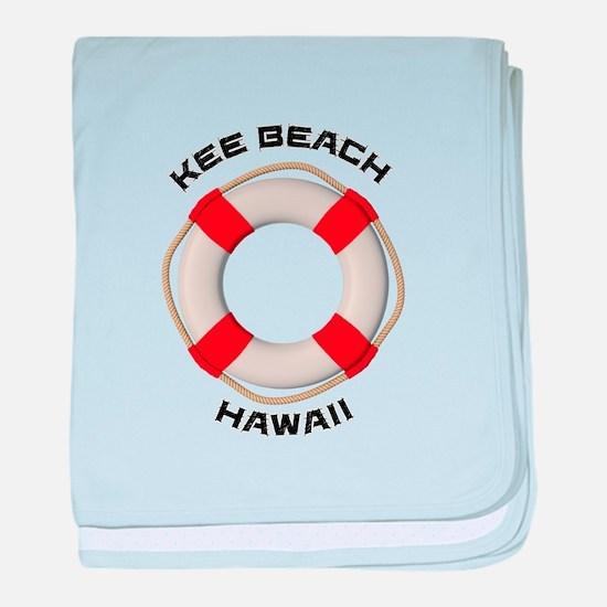 Hawaii - Kee Beach baby blanket