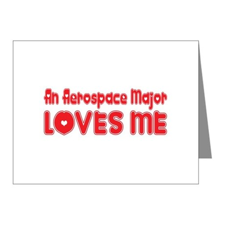 An Aerospace Major Loves Me Note Cards (Pk of 10)