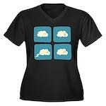 Thunder Fart Women's Plus Size V-Neck Dark T-Shirt