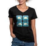 Thunder Fart Women's V-Neck Dark T-Shirt
