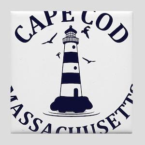 Summer cape cod- massachusetts Tile Coaster