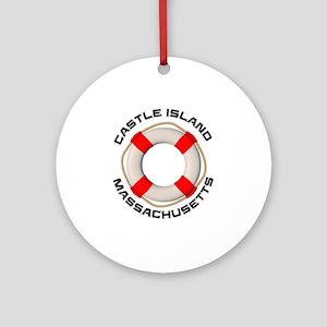 Massachusetts - Castle Island Round Ornament
