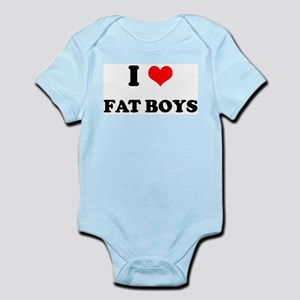 I Love Fat Boys (bold)  Infant Creeper