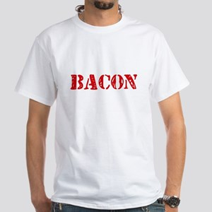 Bacon Retro Stencil Design T-Shirt
