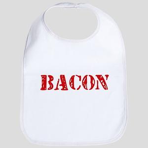 Bacon Retro Stencil Design Baby Bib
