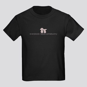 everybody needs somebunny Kids Dark T-Shirt