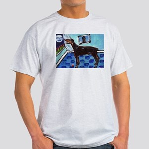 DOBERMAN PINSCHER art Ash Grey T-Shirt