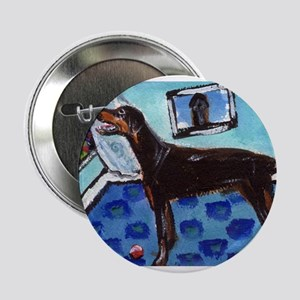 DOBERMAN PINSCHER art Button