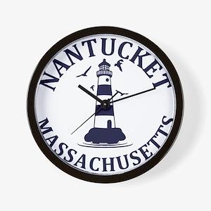 Summer nantucket- massachusetts Wall Clock