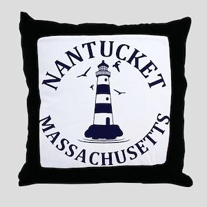 Summer nantucket- massachusetts Throw Pillow