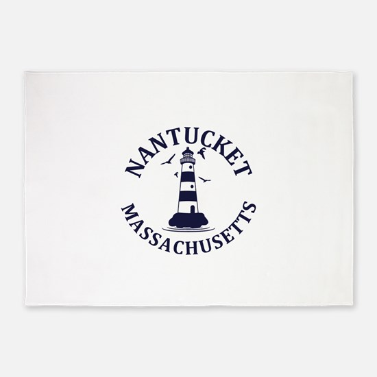 Summer nantucket- massachusetts 5'x7'Area Rug
