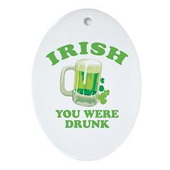 St. Patrick's day Oval Ornament