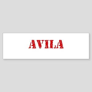 Avila Retro Stencil Design Bumper Sticker