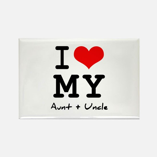 I love my aunt + uncle Rectangle Magnet